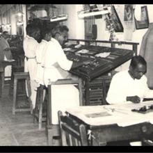 AIR Composing Department - 1940